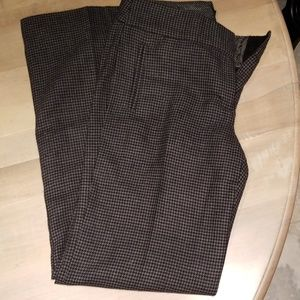 Wool herring bone lined pants